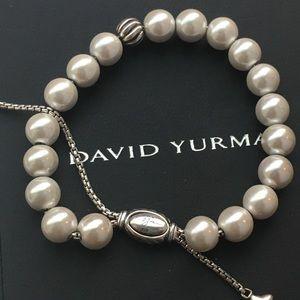 David Yurman adj  pearl & sterling silver bracelet